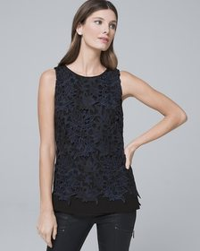 Lace-Overlay Tank
