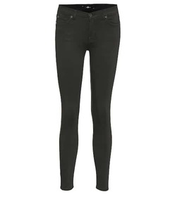 7 For All Mankind Cropped mid-rise skinny jeans