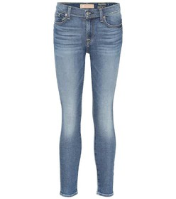 7 For All Mankind Ankle cropped mid-rise skinny je