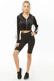 Forever21 Active Cropped Zip-Up Hoodie