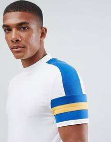 ASOS DESIGN muscle fit t-shirt with contrast sleev