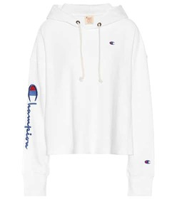 Champion Cropped cotton-blend hoodie