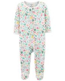 Osh Kosh Baby GirlFloral Zip-Up Thermal Sleep & Pl