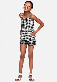 Justice Gingham Embroidered Romper