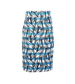 Prada Banana-printed cotton skirt