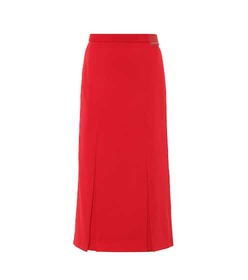 Prada Pleated jersey skirt