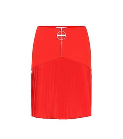 Givenchy Pleated wool miniskirt