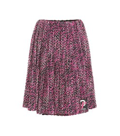 Prada Pleated wool-blend skirt