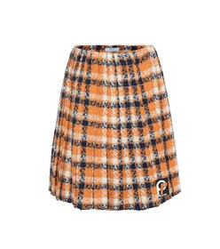 Prada Wool tweed pleated skirt