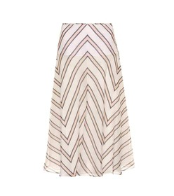 Fendi Striped silk gauze skirt