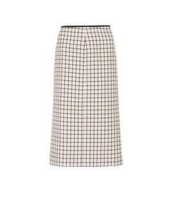 Fendi Plaid virgin wool skirt