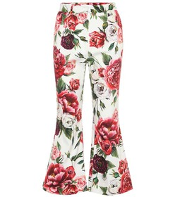 Dolce & Gabbana Floral-printed stretch cotton pant