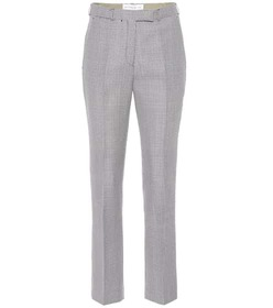 Etro Houndstooth wool and mohair pants