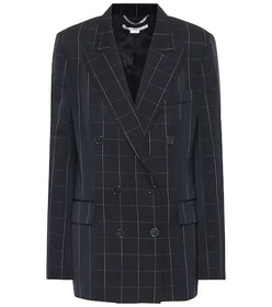 Stella McCartney Checked double-breasted wool blaz