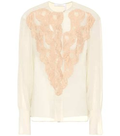 Chloé Georgette and lace blouse