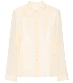Chloé Silk and lace blouse