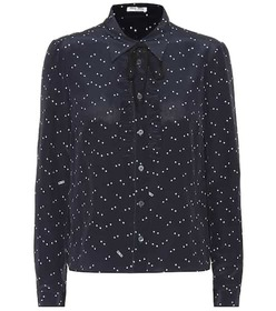 Miu Miu Star-printed silk blouse