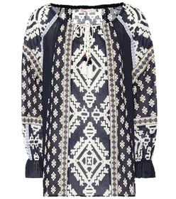 Tory Burch Candice printed cotton top
