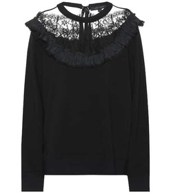 Marc Jacobs Lace-trimmed sweater