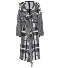 Stella McCartney Checked wool and mohair-blend coa