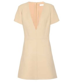 Chloé V-neck wool dress