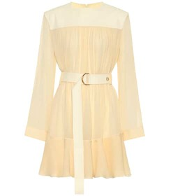 Chloé Silk-blend mousseline minidress