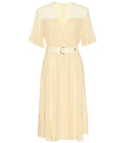 Chloé Silk-blend crêpe midi dress