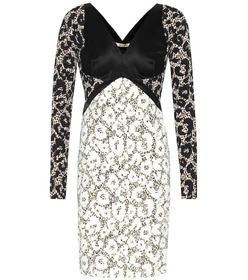 Roberto Cavalli Printed long-sleeved dress