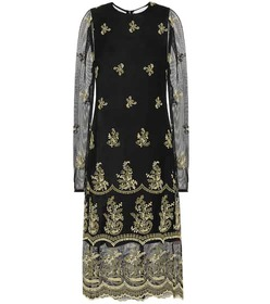 Chloé Embroidered midi dress