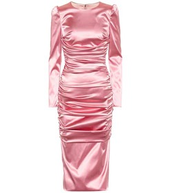 Dolce & Gabbana Stretch-satin midi dress