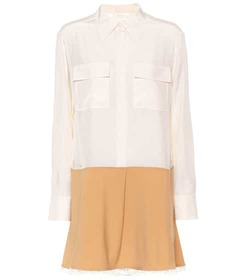 Chloé Silk and wool-blend shirt dress