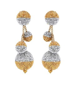 Oscar de la Renta Beaded ball drop earrings