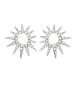 Oscar de la Renta Crystal starburst earrings