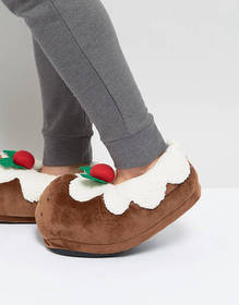 Dunlop Holidays Pudding Slippers