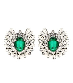 Balenciaga Crystal embellished earrings