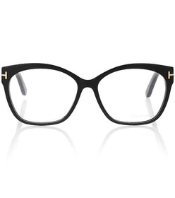 Tom Ford Curved rectangular frame glasses
