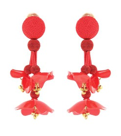 Oscar de la Renta Falling clip-on earrings