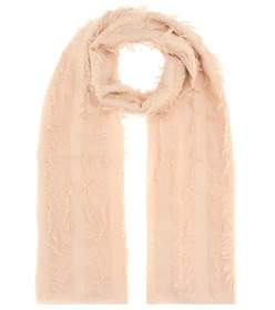 Chloé Fringed wool scarf