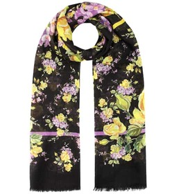 Dolce & Gabbana Floral-printed cashmere scarf