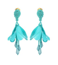 Oscar de la Renta Impatiens Mini earrings
