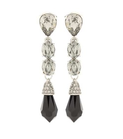 Oscar de la Renta Crystal-embellished earrings