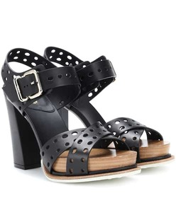 Tod's Plateau leather sandals