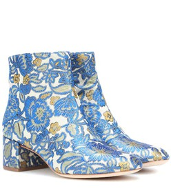 Tory Burch Shelby 50 brocade ankle boots