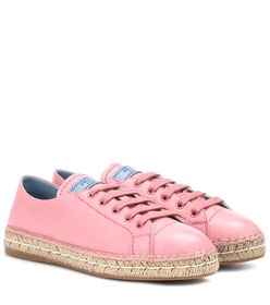 Prada Leather espadrille sneakers