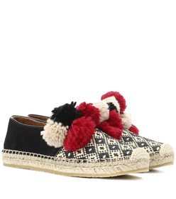 Etro Embellished canvas espadrilles