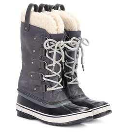 Sorel Joan of Arctic shearling-trimmed suede and r