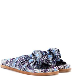 Etro Printed satin slides