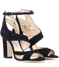 Jimmy Choo Falcon 100 suede sandals