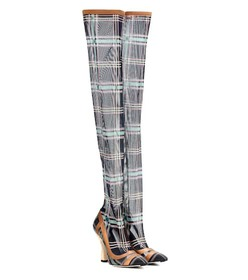 Fendi Over-the-knee plaid boots
