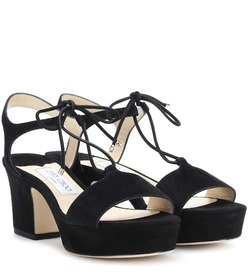 Jimmy Choo Belize 65 suede sandals